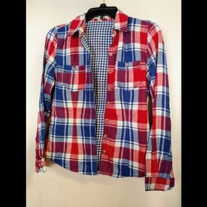 Forever 21 Plaid Button Up